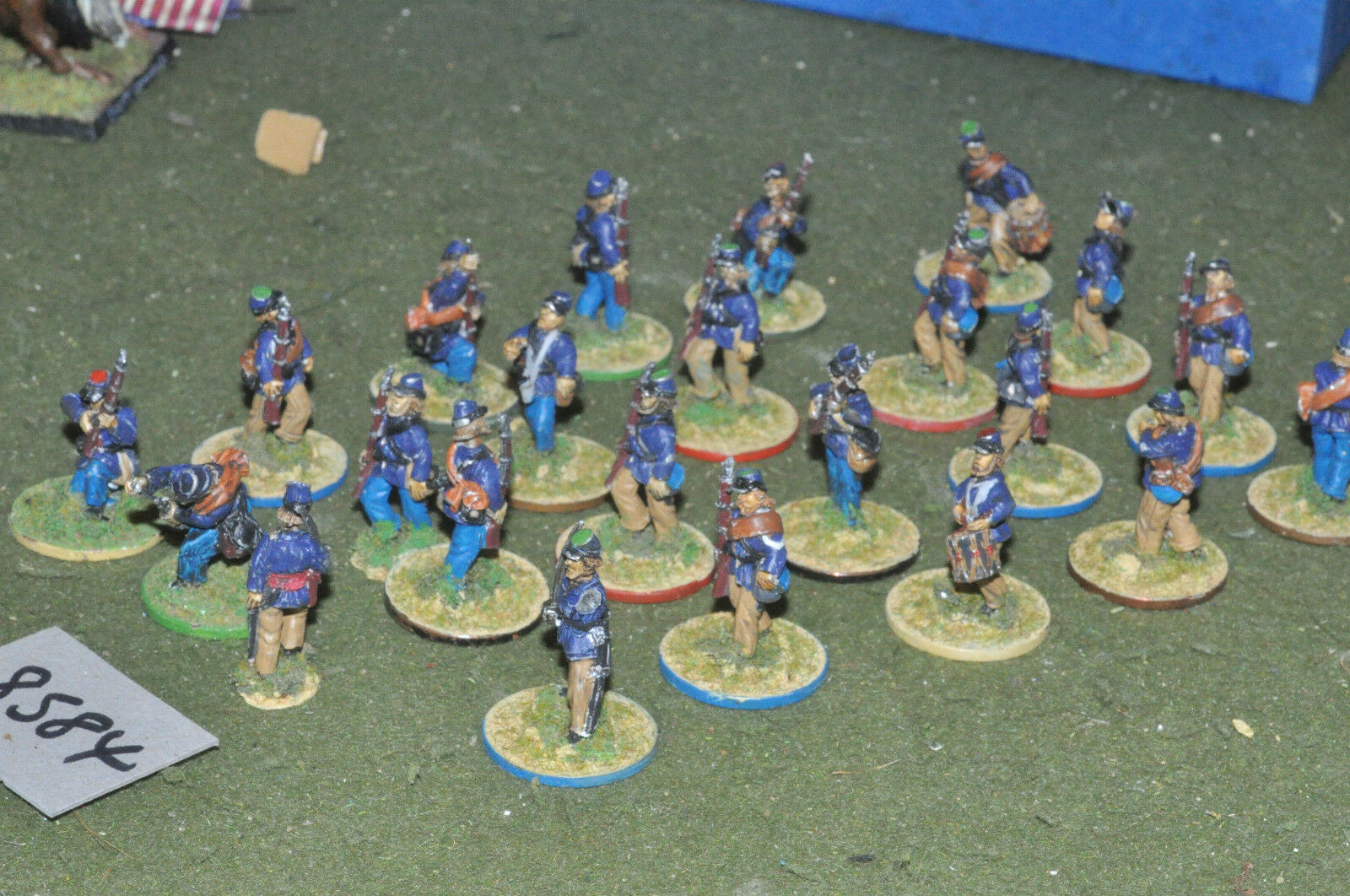 25mm ACW   union - american civil war infantry 22 figs metal - inf (8584)
