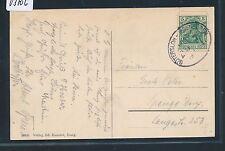 03706) OWL, Bahnpost Ovalstempel Gütersloh - Ibbenbüren ZUG 7, AK Iburg 1914
