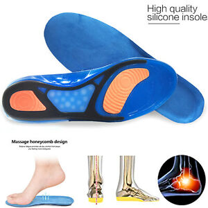 Unisex Gel Orthotic Sport Plantar Fasciitis Insoles Insert Shoe Pad Arch Support