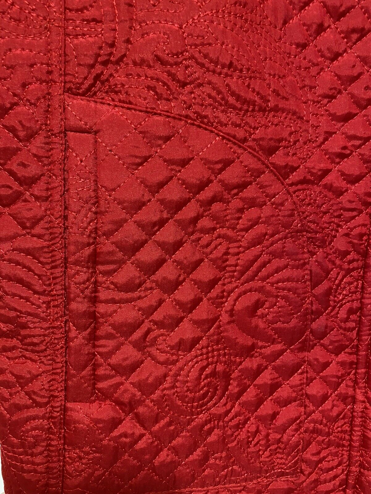 Christopher & Banks Womens Quilted Embroidered Pa… - image 4