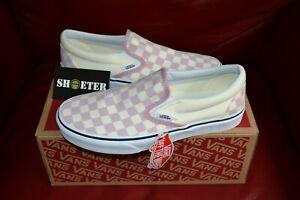 Vans-Checkerboard-Slip-On-Zephyr-Pink-True-White-Men-039-s-Women-039-s-Size-4-14