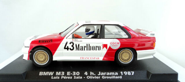 FLY 038103 BMW M3 E30 Marlboro #43 4h. Jarama 1987 Brand New 1/32 Slot Car