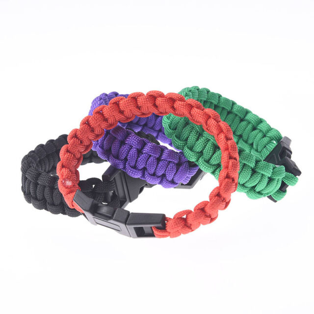 outdoor camping paracord parachute cord emergency survival bracelet rope @TES
