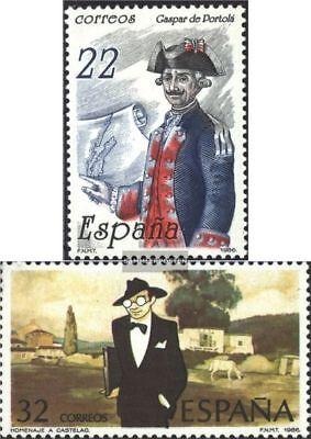 Gehorsam Spanien 2749,2756 Castelao kompl.ausg. Postfrisch 1986 Portola