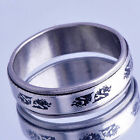 mens stainless steel ring Black dragon ring Size 9 wholesale jewelry lots