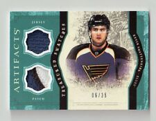 KEVIN SHATTENKIRK 11-12 UD ARTIFACTS 3 COLOR DUAL JERSEY PATCH #D /35 BLUES