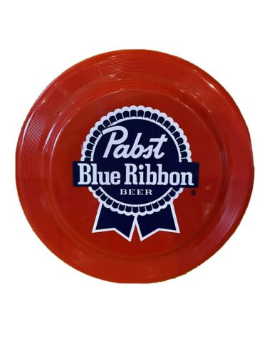 PBR Logo Pabst Blue Ribbon Beer Frisbee Red Plastic Frisbee Disc