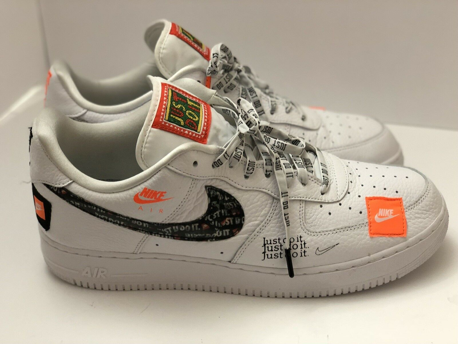 Nike Air Force 1 Premium JUST DO IT JDI x OFF WHITE Black Virgil Abloh Price reduction Special limited time