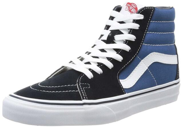 VANS Sk8 High Hi Navy White Vn-0d5invy Skateboard Shoes Mens Black Blue 10 6e286bad6
