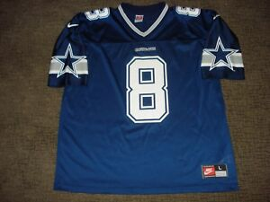 buy online fb8aa 43852 Details about Vintage Dallas Cowboys NIKE Troy Aikman Navy Blue Jersey MVP  UCLA L MINT