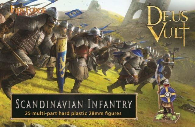 Fireforge Juegos 28 mm Deus Vult infantería escandinavo # 012