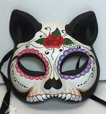 New Day of the Dead Cat resin eyeMask Sugar Skull Dia de Muertos Mardi GrasR1832