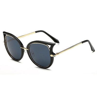 Women's Retro Cat Eye Designer Sunglasses Mirror Lens Sports Glasses Eyewear