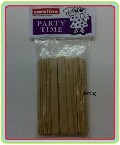 24 Party Time Hielo Lolly palos Pop Candy Apple Piruletas de Madera Madera 14 cm 1146