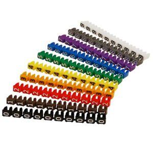 Kabelmarker-Clips Kabel Marker bedruckt mit Ziffern 0-9 Kabeldurchmesser bis 6mm