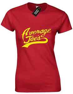 AVERAGE JOES LADIES T SHIRT  DODGE  INSPIRED GYM BALL FUNNY PRESENT
