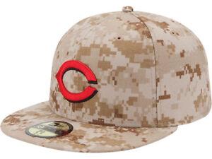 904ac49b2ba99 Cincinnati Reds Men s New Era 59FIFTY Camo Baseball MLB Memorial ...