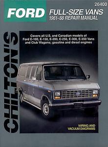 chilton books 26400 manual de reparaci n ford e100 e150 e200 e250 rh ebay com Ford Transit Ford Transit