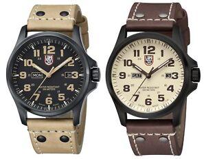 Luminox-Men-039-s-Atacama-Field-Day-Date-Black-PVD-Leather-Watch-Choice-of-Color