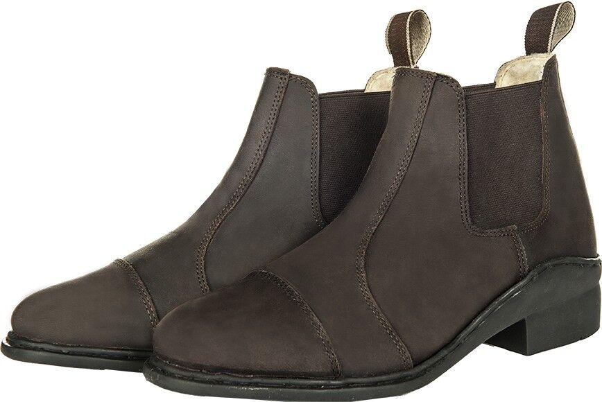 HKM Horse Riding Jodhpur Boots Winter Wax Faux Fur Lining With Elastic Insert AL