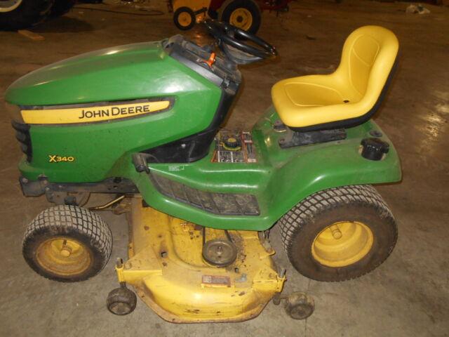 John Deere X340 Lawn Tractor For Sale Online Ebay