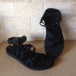 28230186fd2e La foto se está cargando TEVA-ALP-Negro-Con-Tiras-Sport-Water-Sandals-