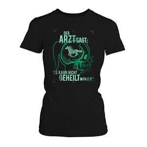 Arzt Pferd Damen T-Shirt Spruch Röntgen Motiv Sport Reiterin Reiten Hobby Lustig