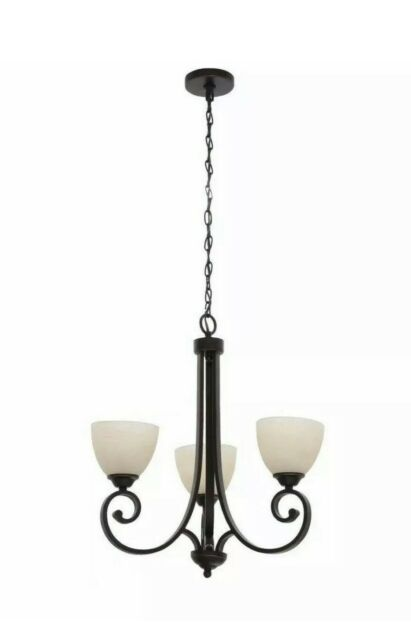 Hd530 Hampton Bay Hdp12084 Renae 3 Light Oil Rubbed Bronze Chandelier For Sale Online Ebay