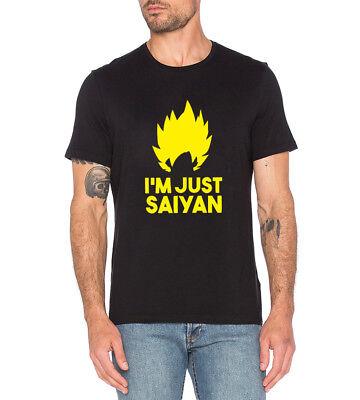 I/'m Just Saiyan T-Shirt DBZ Top Dragon Ball Z Super Tee
