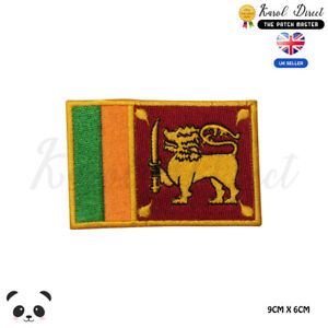 SRI-LANKA-National-Flag-Embroidered-Iron-On-Sew-On-Patch-Badge-For-Clothes-etc