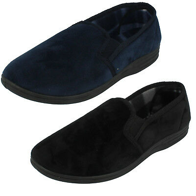 Herren Quality Slippers einfarbig Textil Slipper Hausschuhe MS22