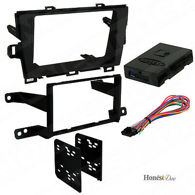 ASC Audio Car Stereo Dash Install Kit and Wire Harness for Installing an Aftermarket Single or Double Din Radio for 2004 2005 2006 2007 2008 2009 2010 Toyota Sienna No Factory Premium Amp//JBL
