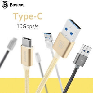 USB-Type-C-Cable-1M-3-3ft-Nylon-Braid-Cable-High-Speed-Charger-Data-Sync-Cord