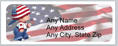 ac 632 30 Personalized Address Labels US Flag Buy 3 get 1 free