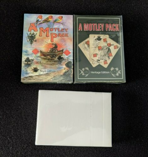Heritage Royal A Motley Pack playing cards set and display editions NEW