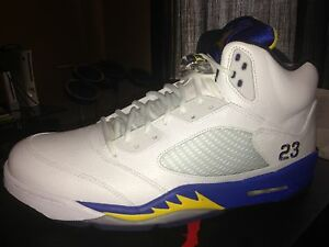 c518d5ddfecb31 Nike Air Jordan 5 V Laney Varsity Retro Lakers Oreo NBA Yellow Curry ...