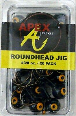 Yellow//Orange 6228 Apex Freshwater Round Fishing Jig Head 1//4-Ounce 10pk