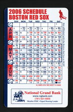 2006 Boston Red Sox Schedule--National Grand Bank
