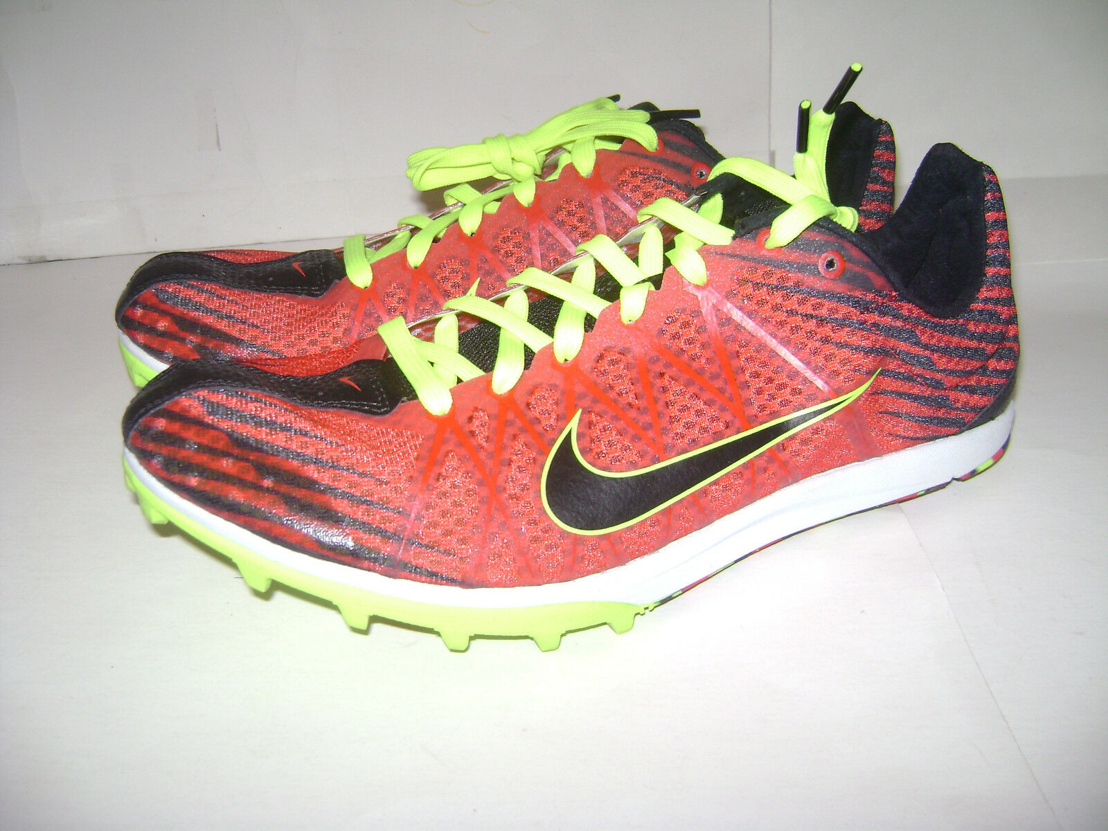 NIKE MEN MENS MENS MENS TRACK and FIELD RUNNING SHOES size 9 M RED BLACK NEON 526316 607 fcad98