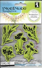 INKADINKADO Stamping Gear Cling Red Rubber Stamp Meadow Flowers Floral