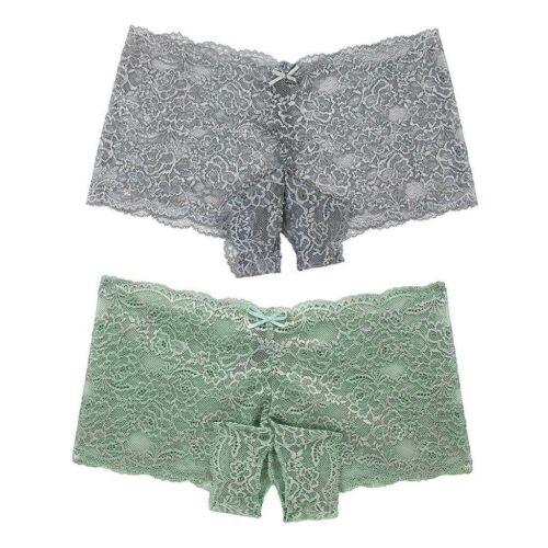 1//2//6PCS Women Lace Lingerie Plus Underwear Open Crotch Bowknot Underwear LOT
