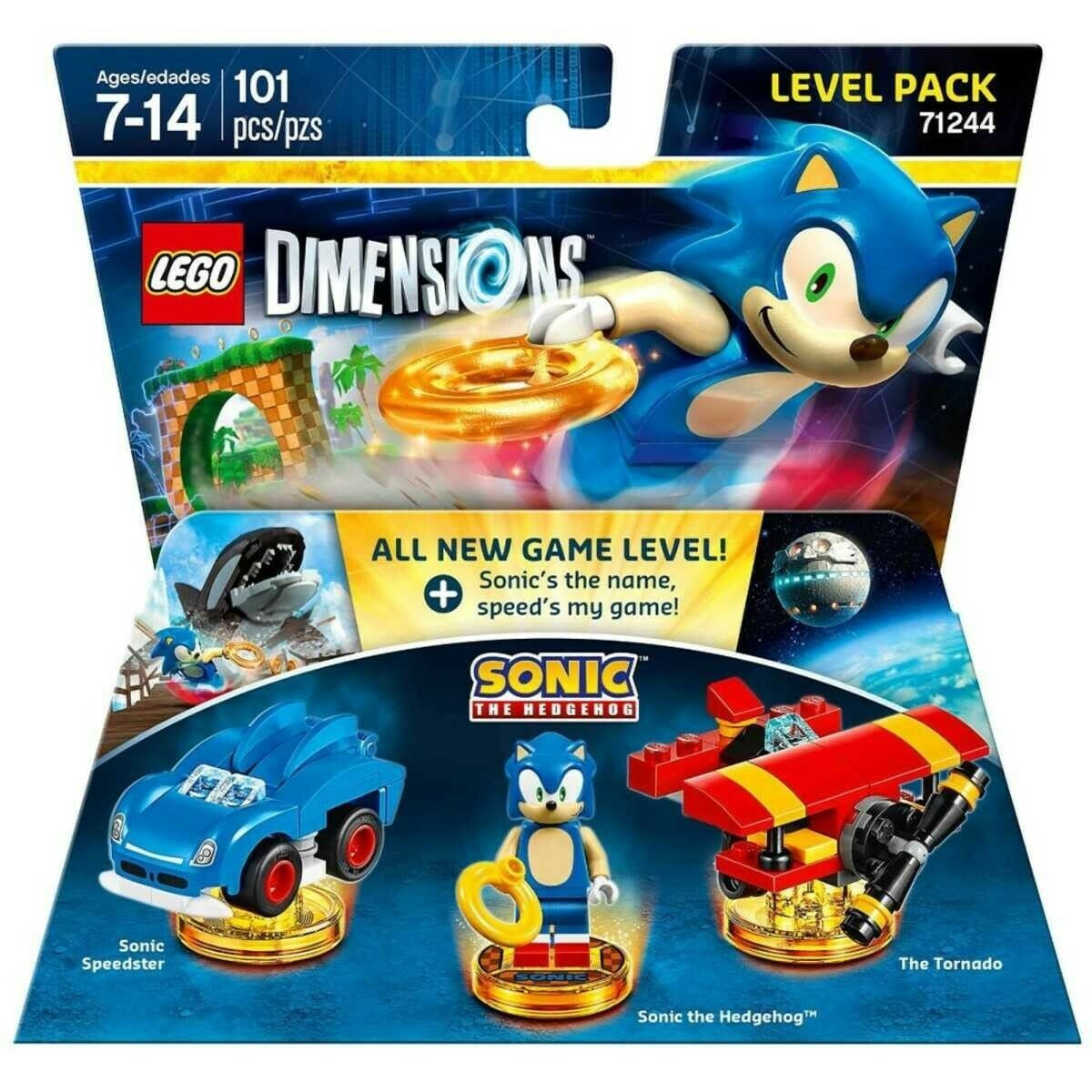 Lego 71244 - Dimensions - Sonic the Hedgehog Level Verpackung - Meerled - Masse3