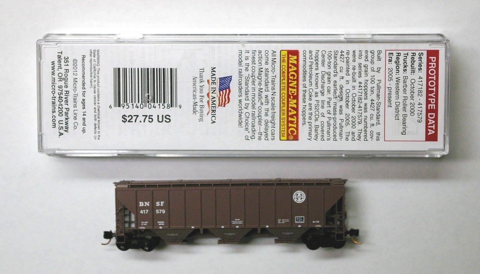 20005459 nouveau Piste h0-Atlas Wagons covered Hopper Burlington Northern