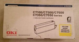 New 4 Color Genuine Okidata OKI C7100 C7300 C7500 C7350 C7550 Printer Toner