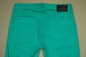 Big-Star-Alex-Mid-Rise-Ankle-Crop-Skinny-Pants-Women-039-s-Size-30-Teal-Sateen