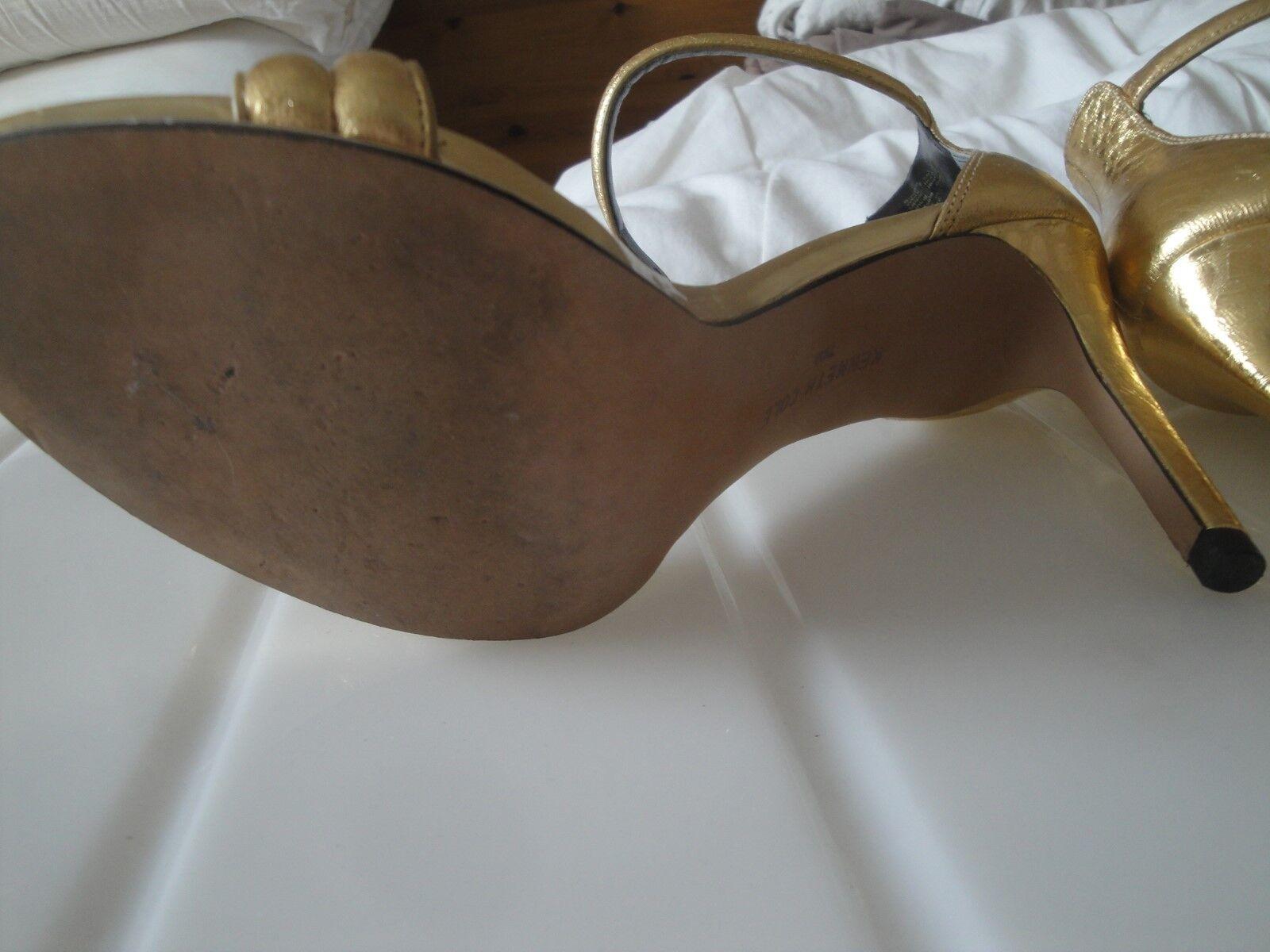 Kenneth Cole Größe Größe Größe 5.5 Gold stiletto sandals 9e33a5
