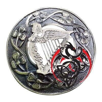 """Acquista A Buon Mercato Scozzese Kilt Fly Plaid Irish Arpa Spilla Di Finitura Anticata Celtic Pin Spille 3""""-"""
