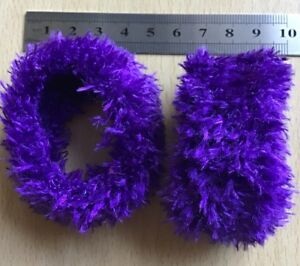 A 2 Pack Of Brown Soft Touch Fluffy Donut Hair Scrunchie//Bobble