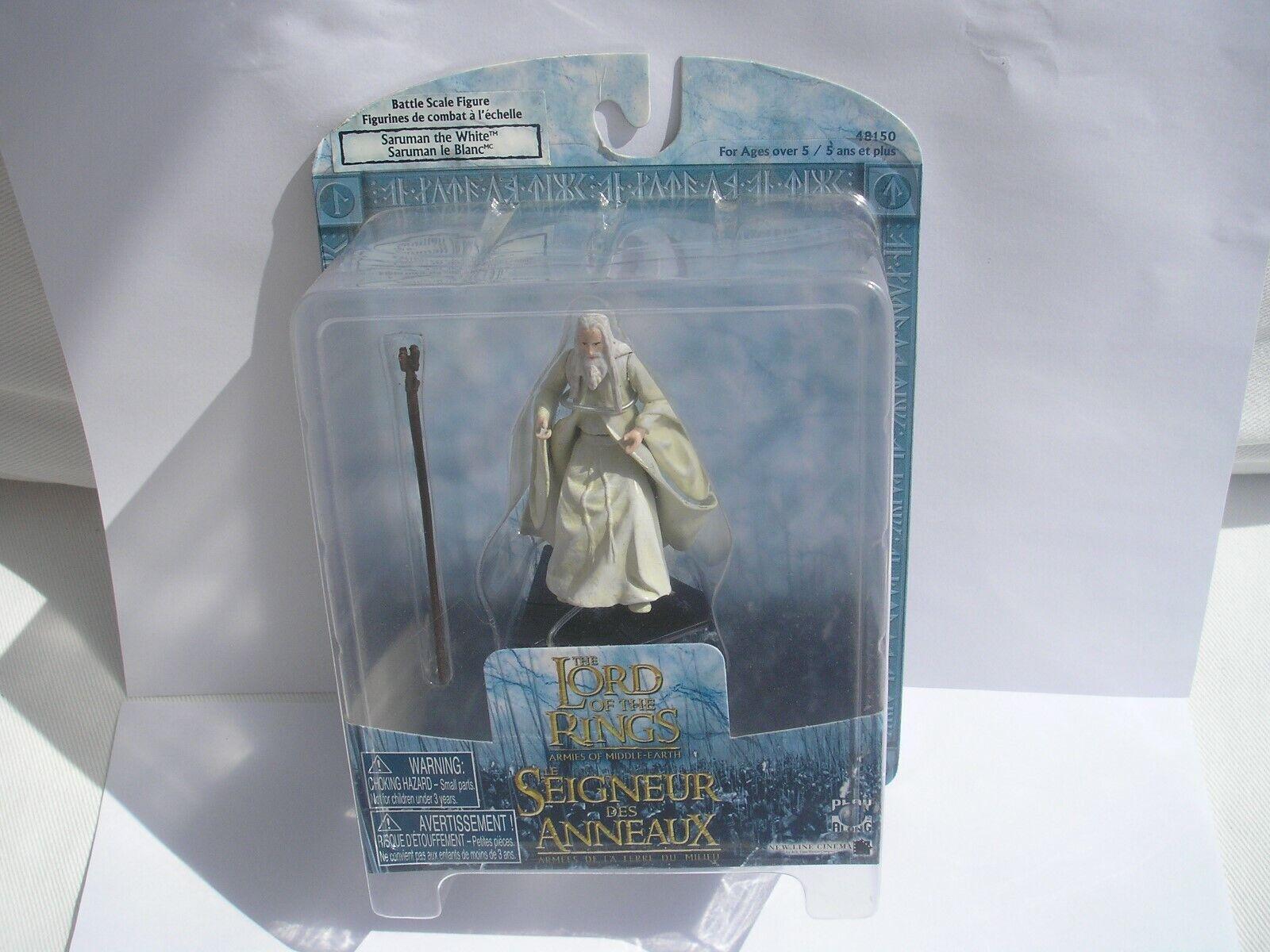 Ejércitos de la tierra media LOTR más raros solo figura Saruman El blancoo