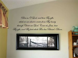 bless us o lord and these thy gifts vinyl wall decal stickers decor